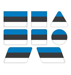 buttons with flag of Estonia vector image vector image
