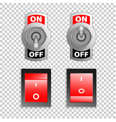 electric switch buttons on off position 3d vector image