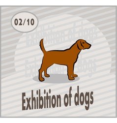 exhibition of dogs vector image vector image