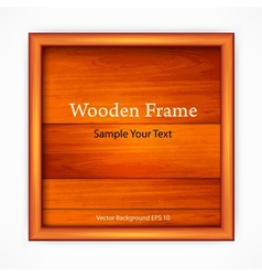 Wooden board with frame vector image
