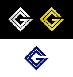 CG initials vector image