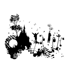 Children Fantasy Grunge Concept vector image