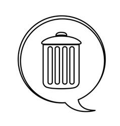 Figure can trash emblem icon vector