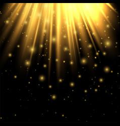 golden lights lighting effect lighting enhance vector image vector image