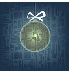 hi-tech christmas tree toy vector image