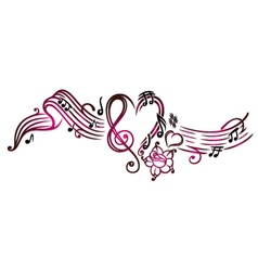 Music notes with clef vector image