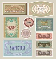 set vintage label vector image