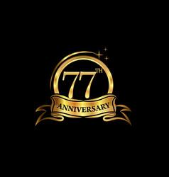 77 year anniversary celebration anniversary vector