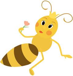 A cute queen bee vector