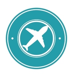 Airplane delivery service icon vector