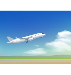Airplane Takeoff Poster vector image