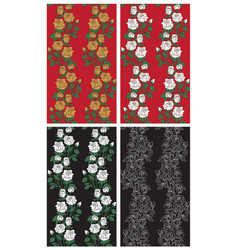 Backgrounds roses on black and red vector