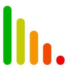bar chart bar graph symbol rounded rectangle vector image