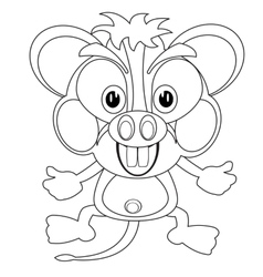 Blackenning and blanching cartoon mouse vector image
