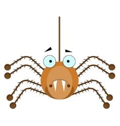 Brown spider vector image