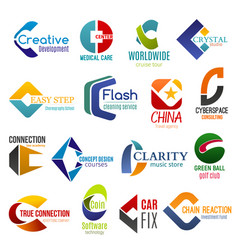 business icons letter c corporate identity vector image