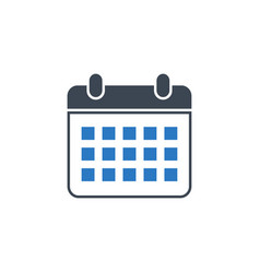 calendar related glyph icon vector image