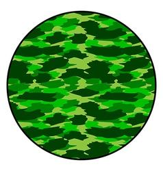Camouflage round button vector