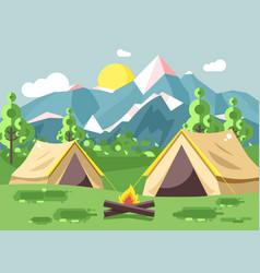 cartoon nature national park vector image vector image