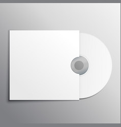 cd dvd mockup presentation template vector image