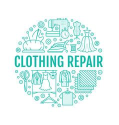 clothing repair alterations studio equipment vector image