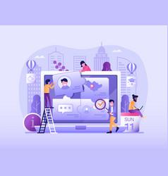 customer persona and user behavior concept vector image