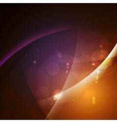 Dark glowing waves design vector image