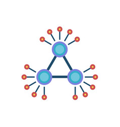 decentralization flat icon vector image
