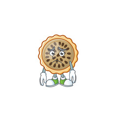 Design pecan pie afraid with seeds topping vector