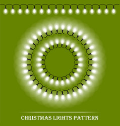 Detailed realistic christmas white lights and vector