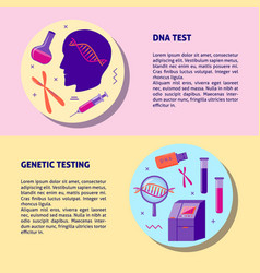 Dna genetic testing medical banner template in vector