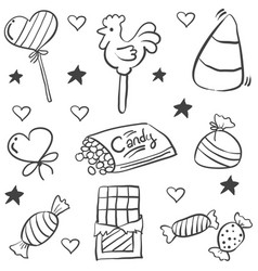 doodle of sketch candy sweet vector image