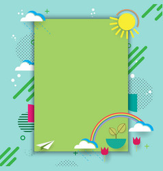 eco card with geometric shape vector image