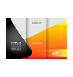 empty tri-fold brochure print template desi vector image