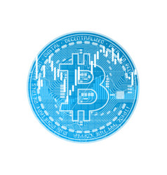 finance bitcoin background blue vector image