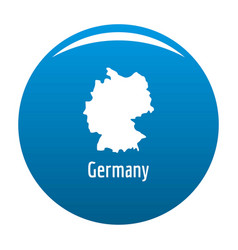 Germany map in black simple vector