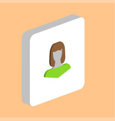 girl head computer symbol vector image