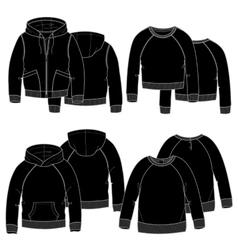 Girls hoodiesBlack vector image vector image