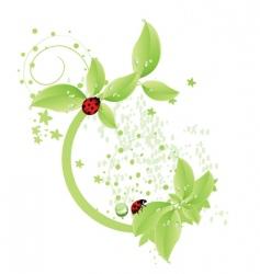 green leaf design vector image