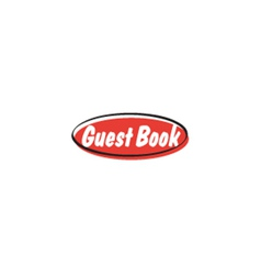 Guest book button vector