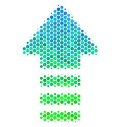 Halftone blue-green arrow pointer icon vector