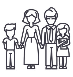 happy familyson mother father daughter vector image