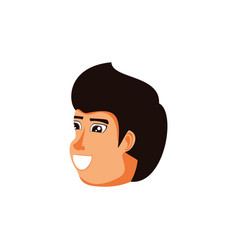 head of man avatar character vector image
