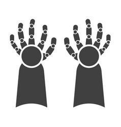 Icon cybernetic hands on white background vector
