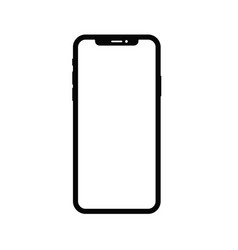 iphone x dummy frame vector image