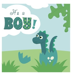 It is a boy card vector image