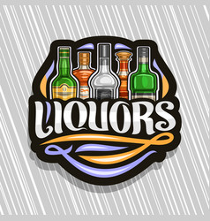 logo for liquors vector image