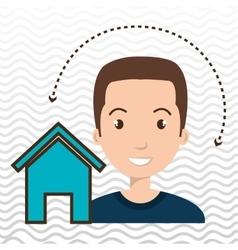 man home page web vector image
