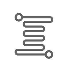Micro circuit line icon vector