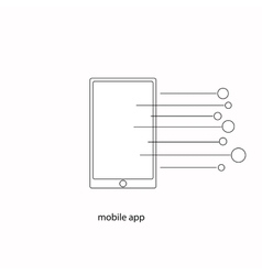 Mobile app vector image